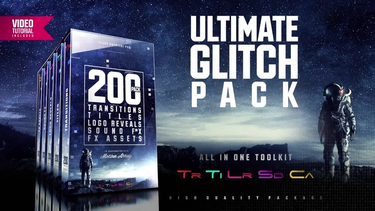 Ultimate Glitch Pack: Premiere Pro Templates