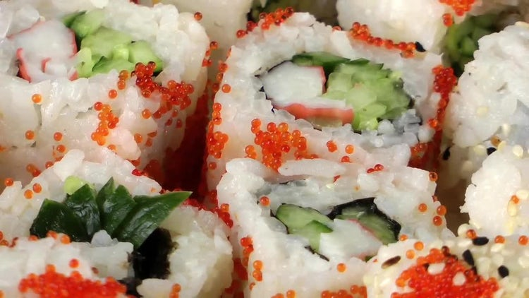 Delicious Japanese Sushi Pack : Stock Video