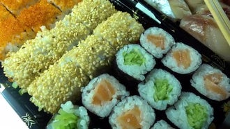 Delicious Japanese Traditional Food : Stock Footage