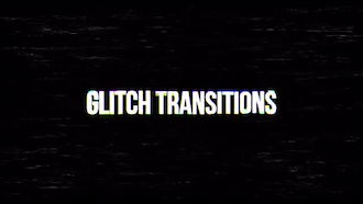 Glitch Transitions: Premiere Pro Templates