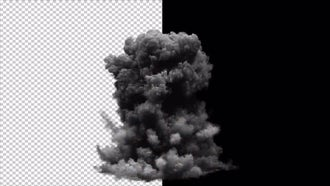 Realistic Explosion Alpha Channel: Motion Graphics