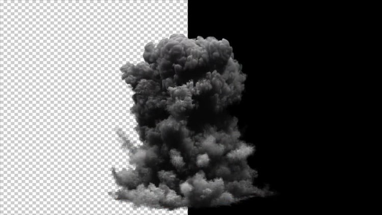 Realistic Explosion Alpha Channel: Stock Motion Graphics