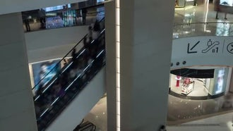 Traffic In A Shopping Mall: Stock Video