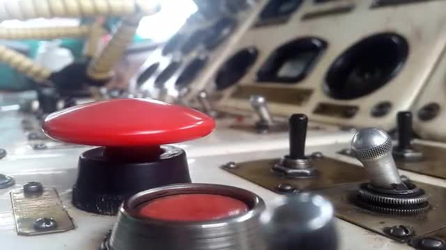 Pressing The Big Red Button: Stock Video