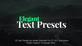 Elegant Text Presets: Motion Graphics Templates
