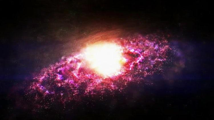 Galaxy Nebula Loop Animation : Stock Motion Graphics