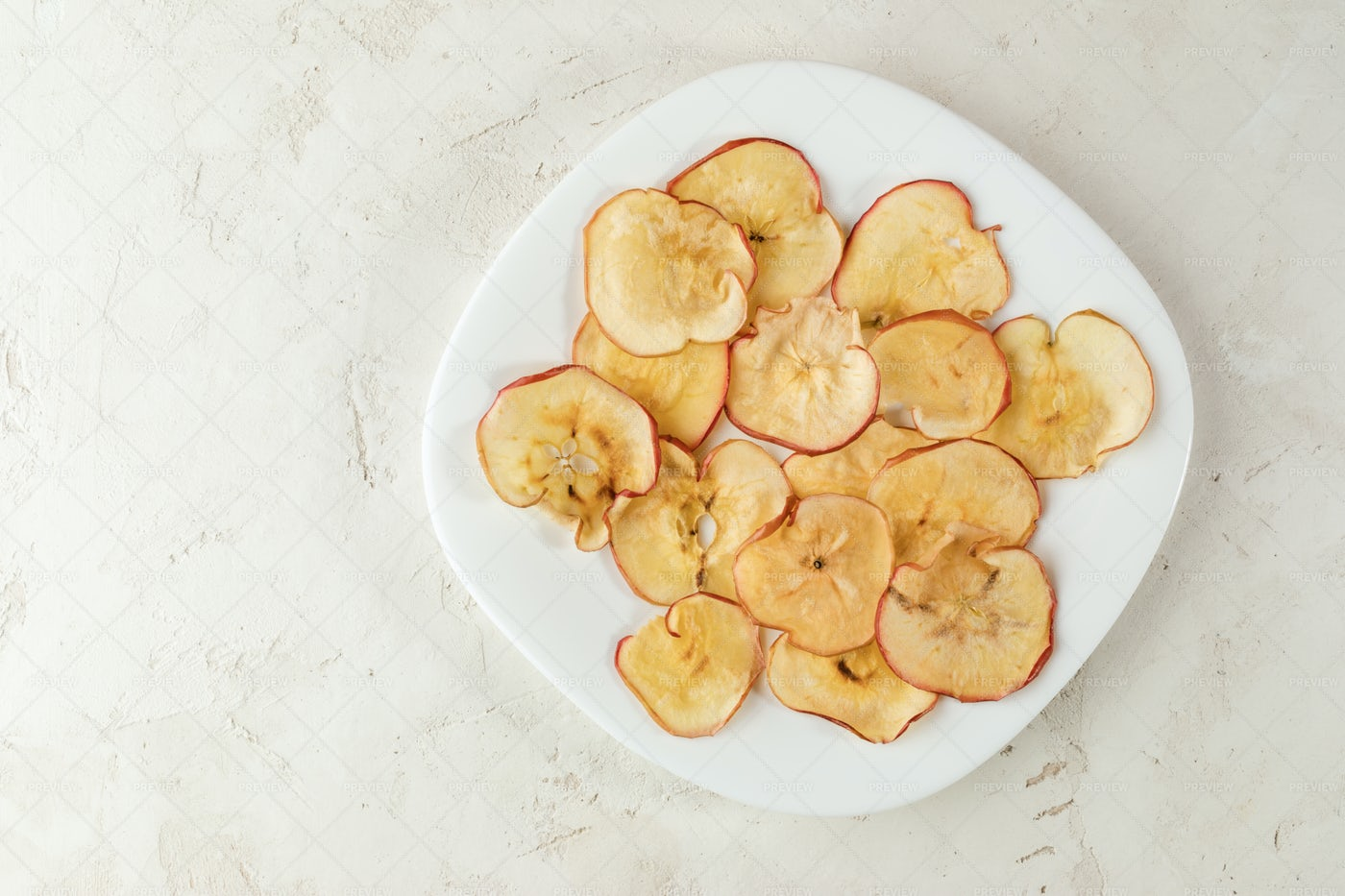 Dry Apple Chips.: Stock Photos