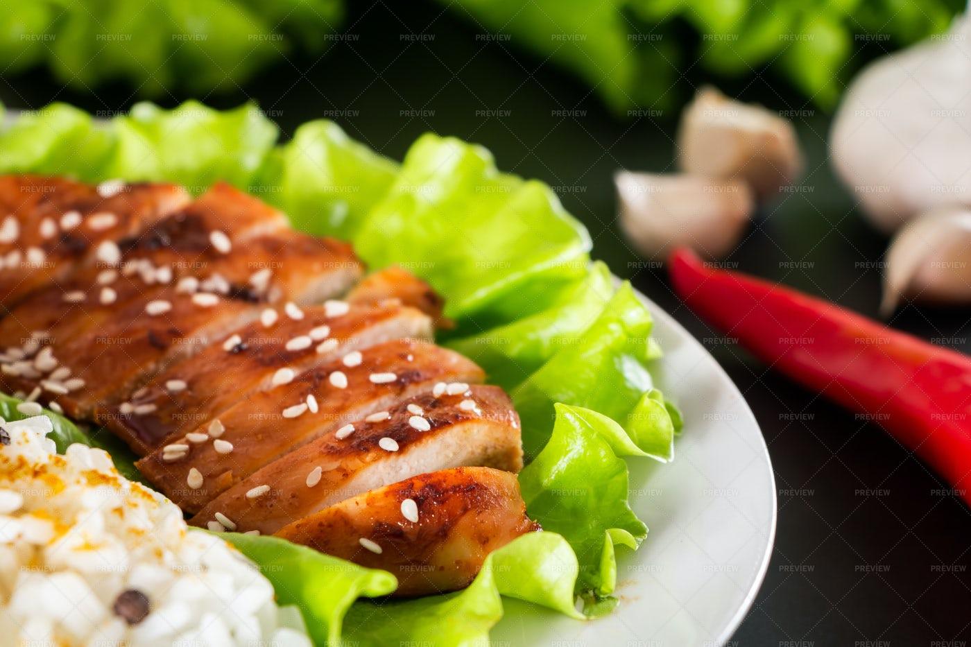 Teriyaki Chicken: Stock Photos