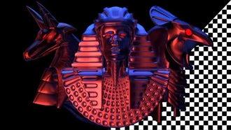 Anubis Pharaoh Horus VJ Loop: Motion Graphics