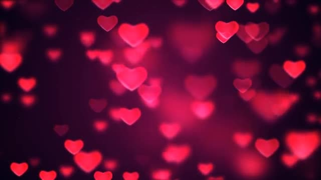 Hearts Background Loop: Stock Motion Graphics