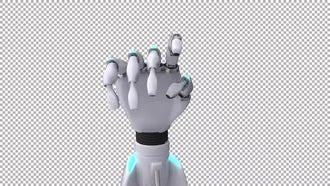 Clicking Robotic Hands - Front View: Stock Motion Graphics