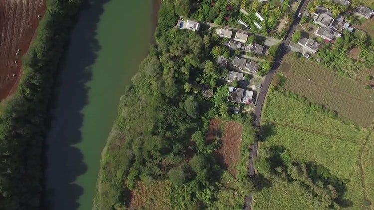 Aerial View Of Green Countryside: Stock Video