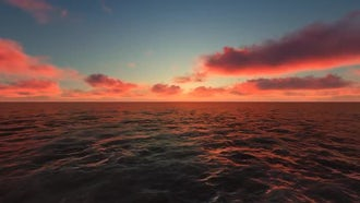 Red Clouds Over The Sea: Motion Graphics