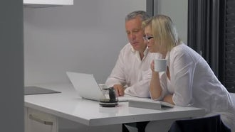Businesspeople Working And Having Coffee: Stock Video
