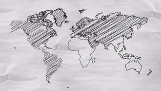 World Map Sketch: Motion Graphics