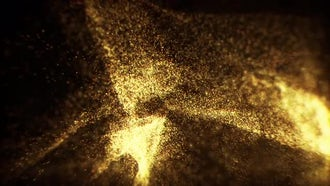 Golden Glitter Background: Motion Graphics