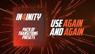 In4inity. Pack of Transitions' Presets: Premiere Pro Templates