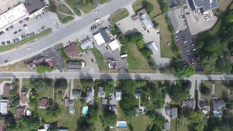 Aerial View Of Posh Neighborhood : Stock Video