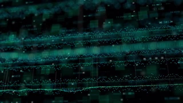 HUD Techno Background Loop: Stock Motion Graphics
