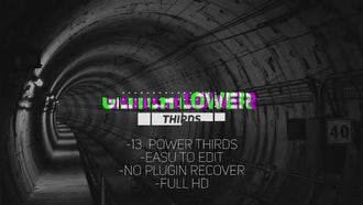 Glitch Lower Thirds v1.0: Premiere Pro Templates