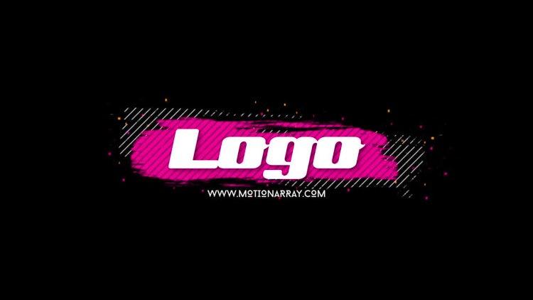 Brush Glitch Logo: Premiere Pro Templates