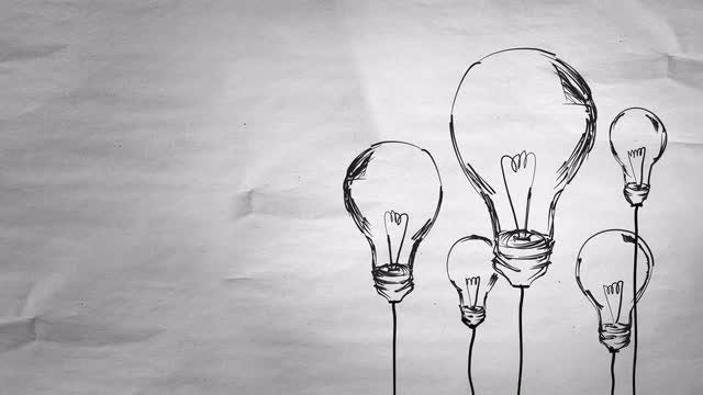 Light Bulbs Sketch: Stock Motion Graphics