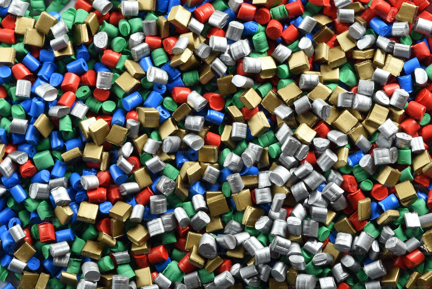 Multicolored Plastic Pellets: Stock Photos