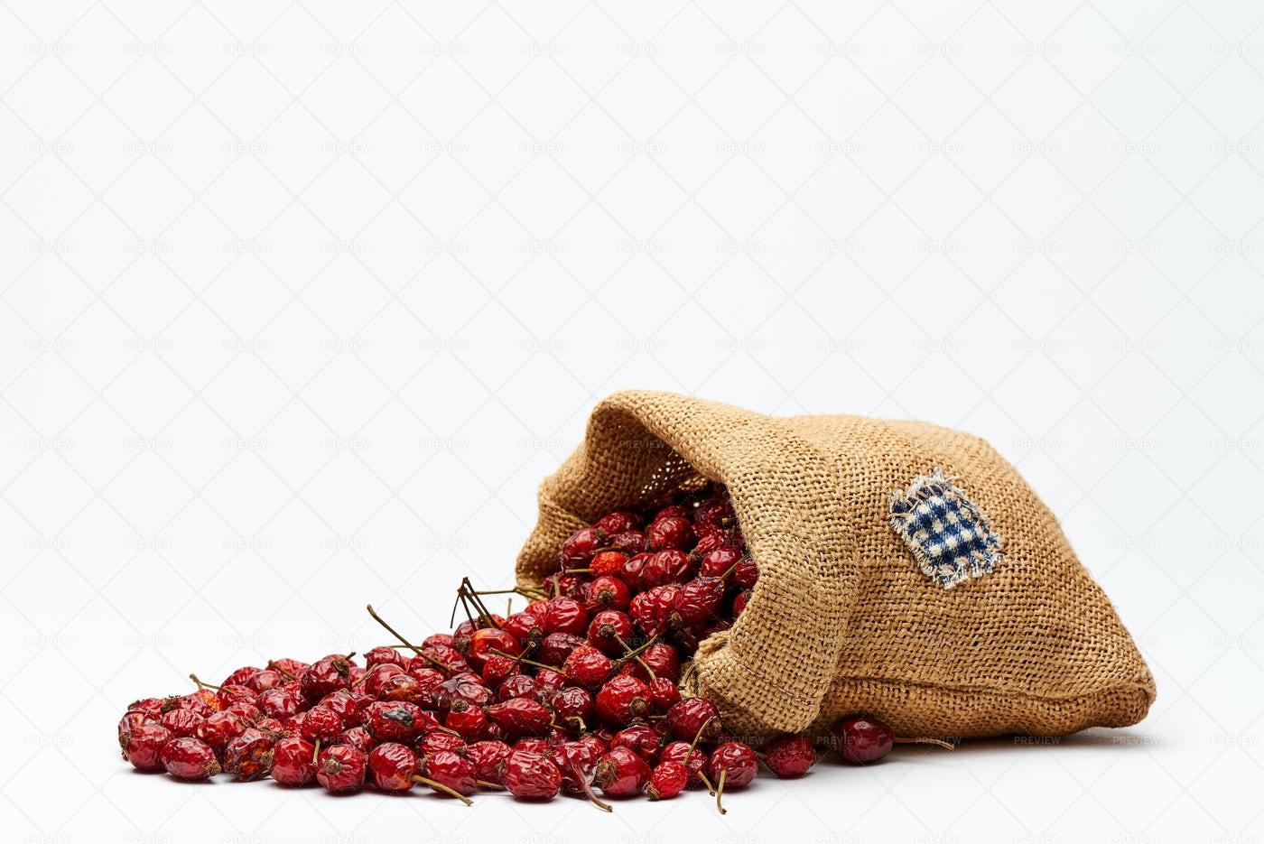 Bag With Rose Hips: Stock Photos