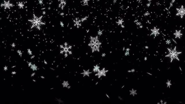 Snowflake Shape Loop Alpha Channel 4K: Stock Motion Graphics