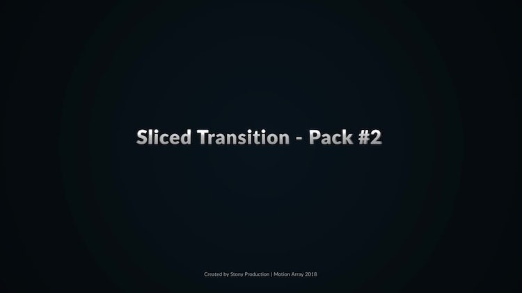 Sliced Transitions #2: After Effects Templates