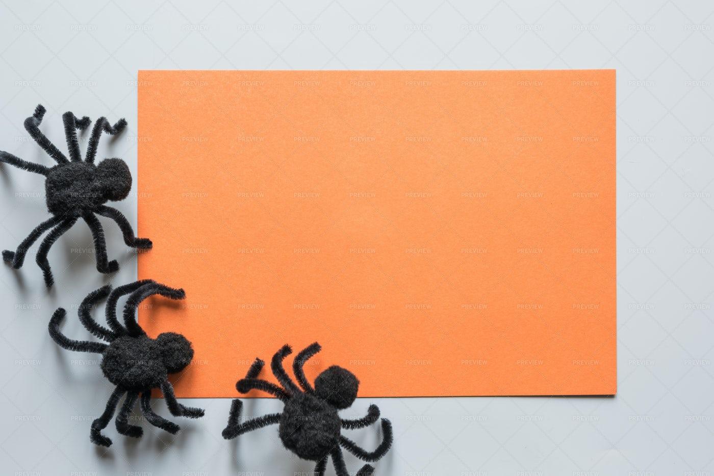 Blank Halloween Invitation: Stock Photos