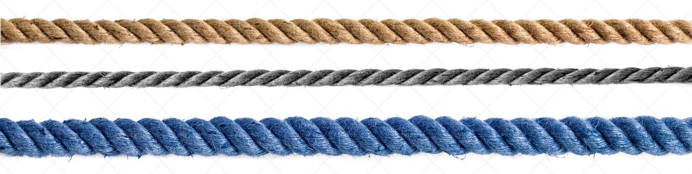 Three Different Ropes: Stock Photos