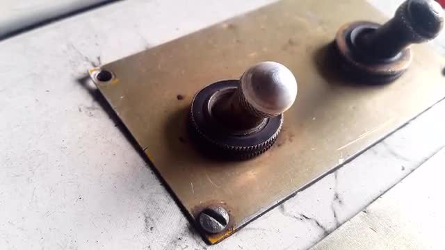 Turning A Toggle Switch On: Stock Video