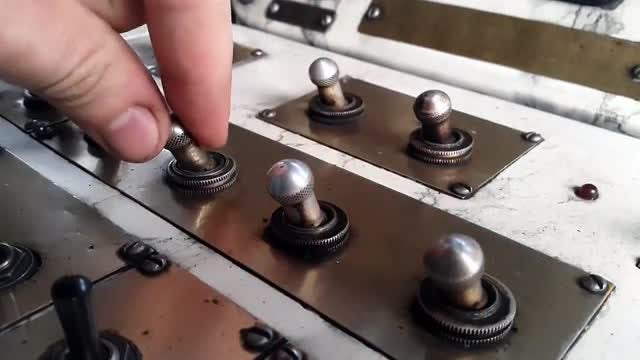 Turning On Multiple Toggle Switches : Stock Video