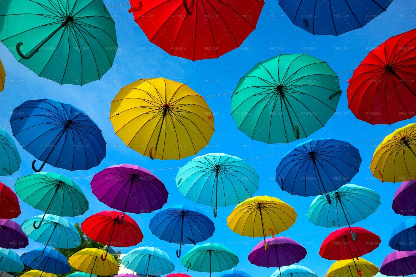 Colorful Umbrellas: Stock Photos
