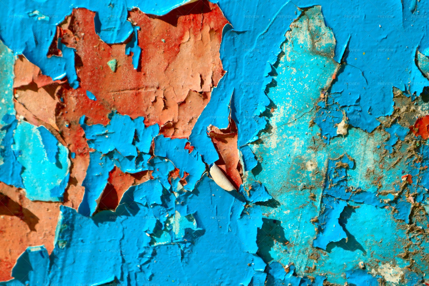 Cracked And Peeling Paint: Stock Photos