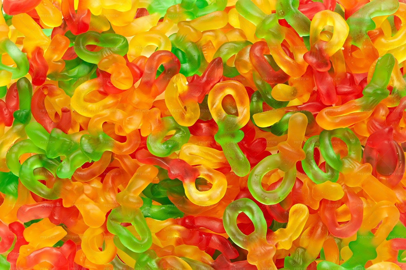 Colorful Jelly Sweets: Stock Photos