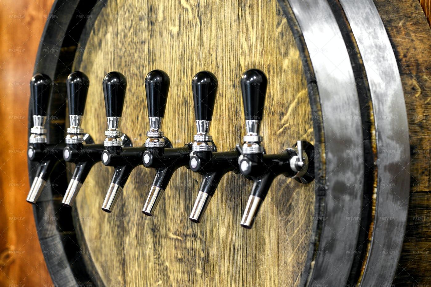 Large Oak Wine Barrel: Stock Photos