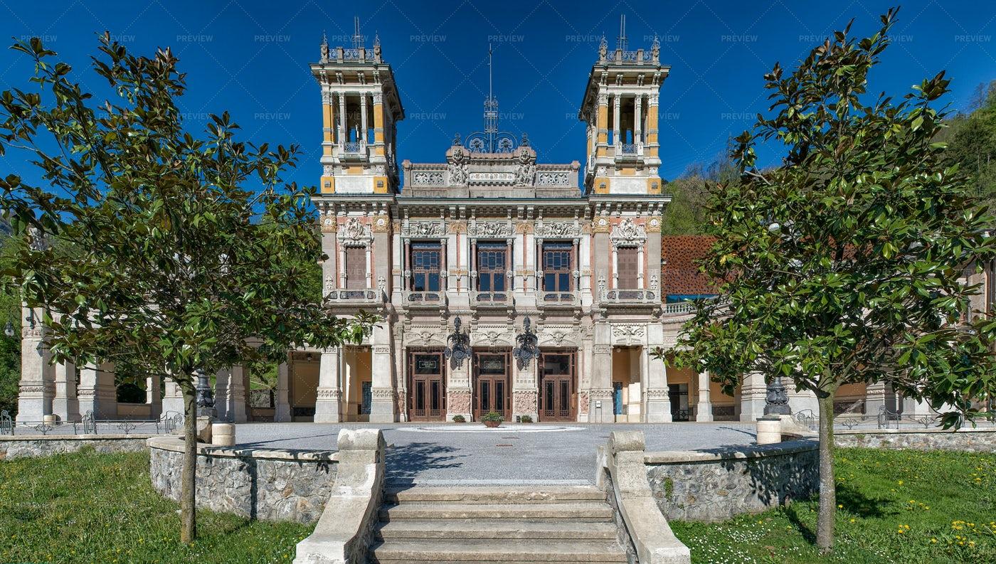 Municipal Casinò Of San Pellegrino Terme: Stock Photos