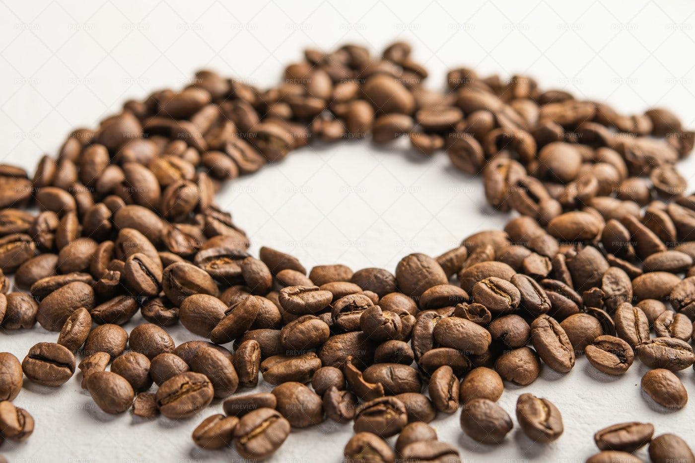 Coffee Beans In A Circle: Stock Photos