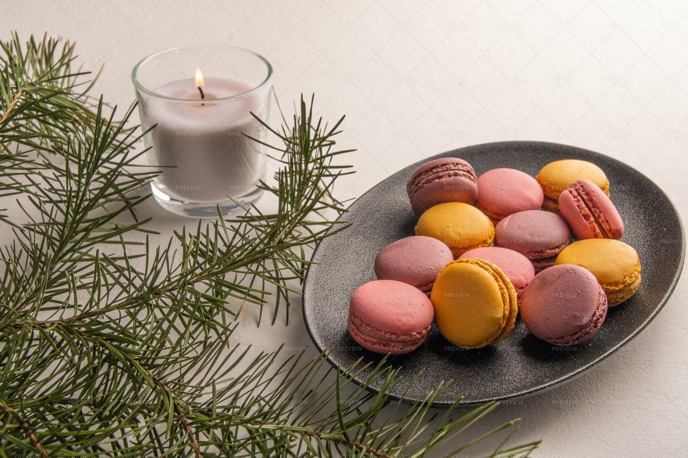 Colorful Macarons: Stock Photos