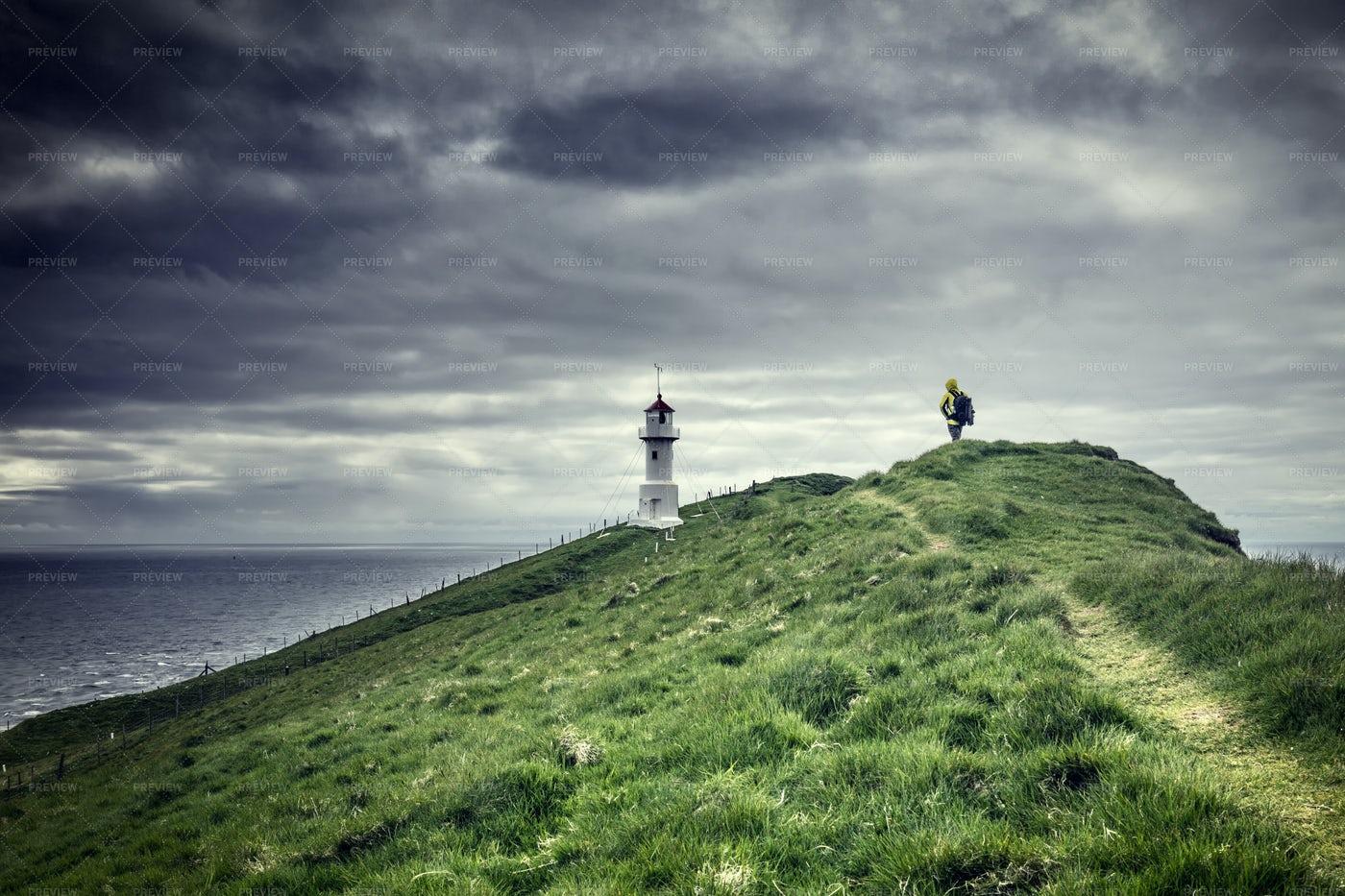 Man In Faroe Islands: Stock Photos