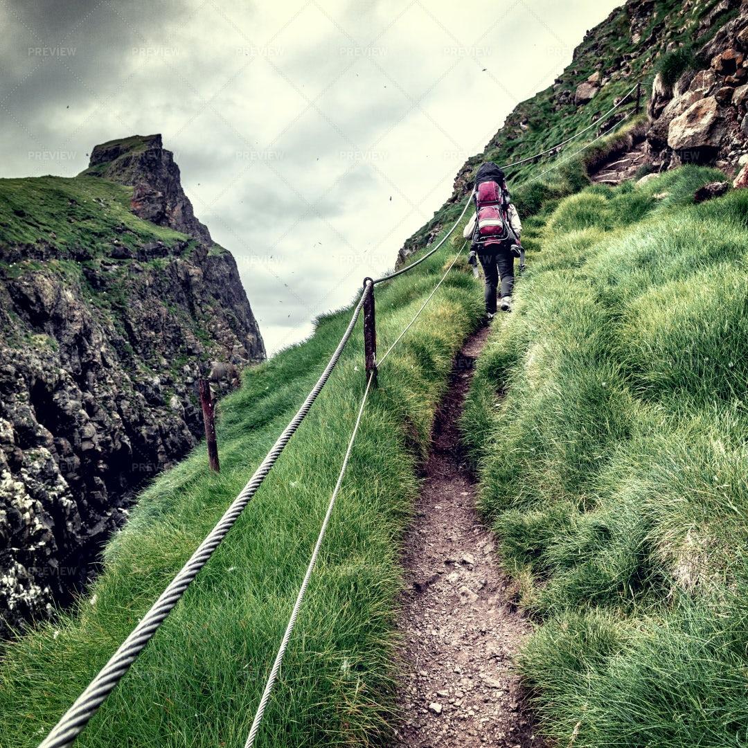 Woman On Faroe Islands: Stock Photos