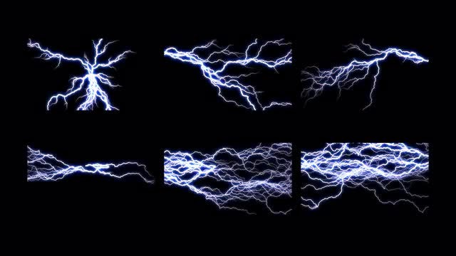 12 Lightning Transitions Pack: Stock Motion Graphics