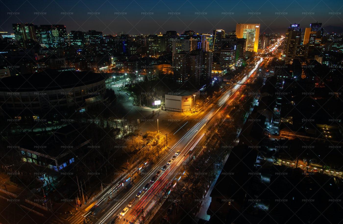 Highway Through Beijing: Stock Photos