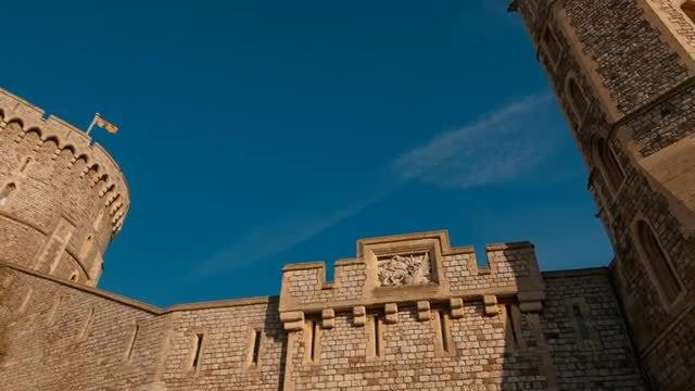 Majestic Windsor Castle In England : Stock Video