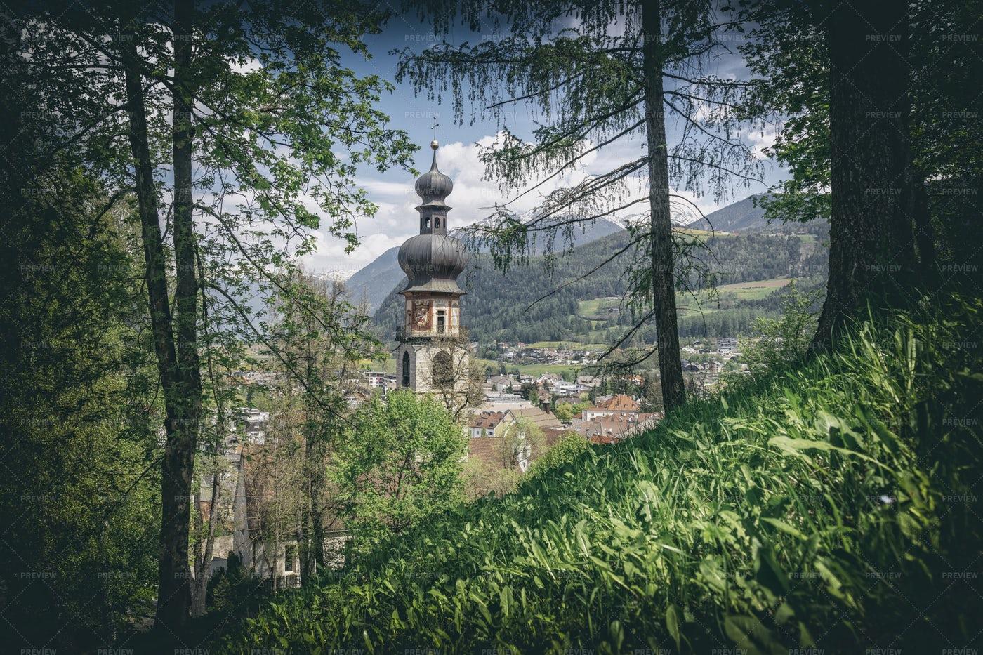 Church In Brunico: Stock Photos