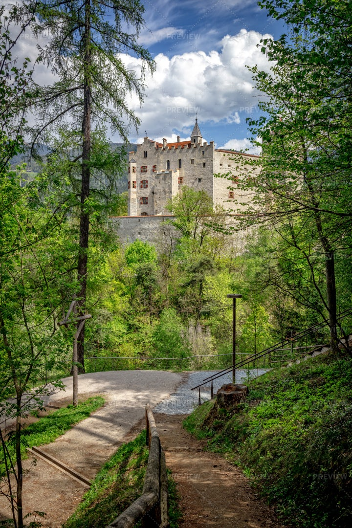 Brunico Castle View: Stock Photos
