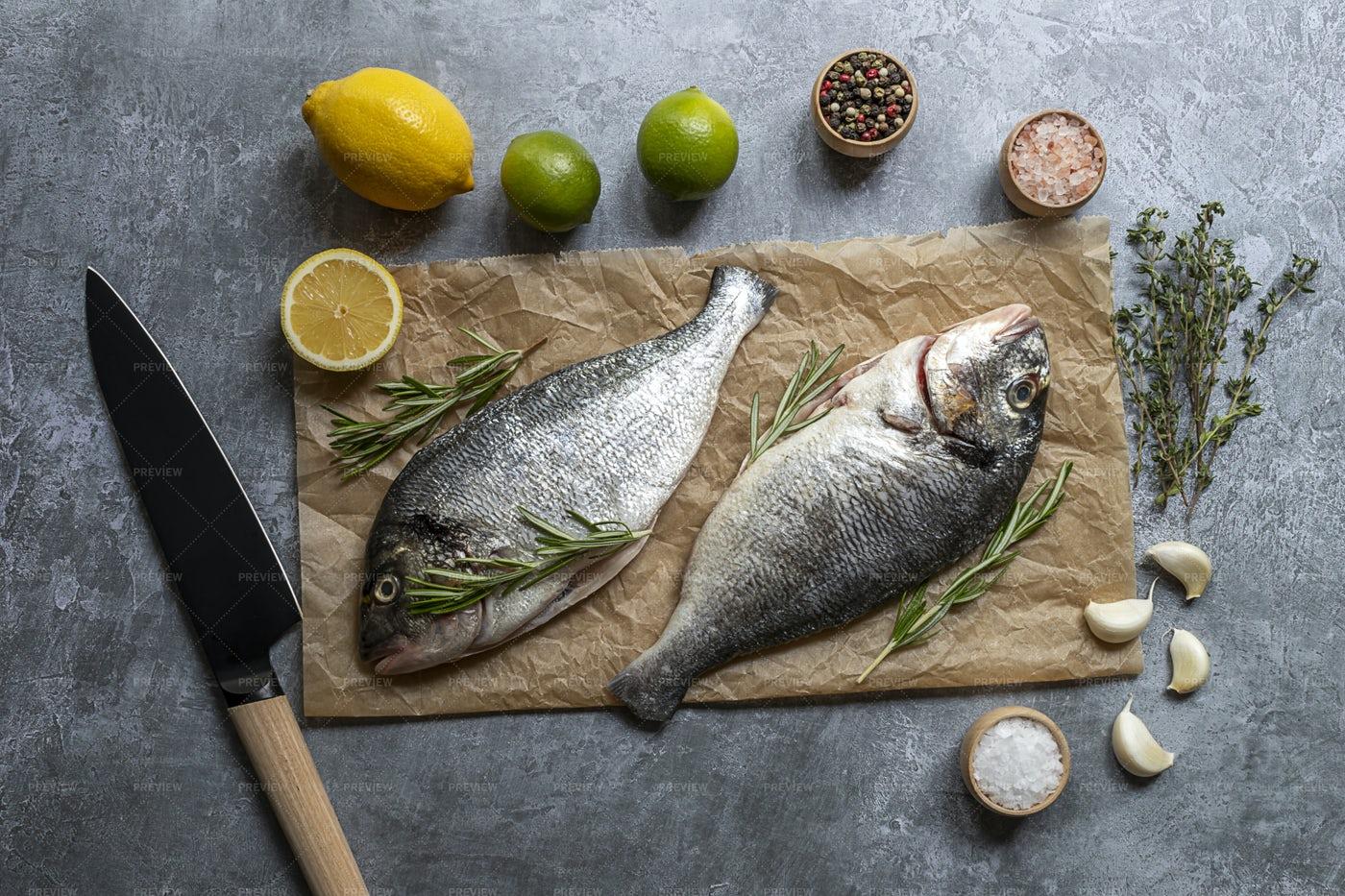 Ready To Prepare Fish: Stock Photos