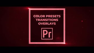 50 Pack: Color Presets, Transitions, Overlays: Premiere Pro Templates